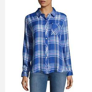 GUC Rails Hunter Plaid Shirt - Periwinkle & Pink